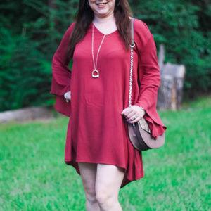 Dresses & Skirts - Whitney Bell Sleeve Woven Shift Dress